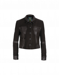 COVERT: Chocolate brown leather and suede jacket
