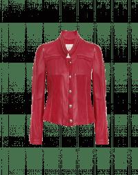 TIP-OFF: Giacca rossa in pelle e camoscio