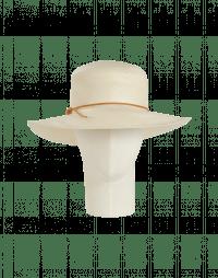 ALLURE: Cream straw panama hat