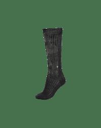 OBLIVION: Silver printed ribbed sock