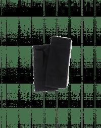 PEEP: Black knitted fingerless mittens