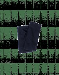 PEEP: Navy knitted fingerless mittens