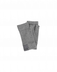 TANTALIZE: Medium grey marl fingerless cashmere gloves