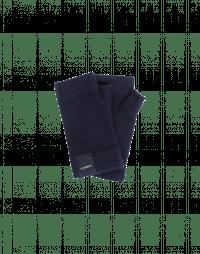 TANTALIZE: Navy blue fingerless cashmere gloves