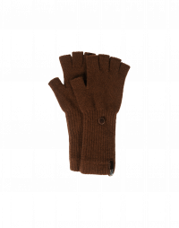 POINTER: Guanti senza dita in cashmere marrone