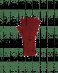 OATH: Burgundy fingerless cashmere gloves