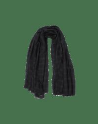 AESTHETE: Black, navy and green tartan scarf