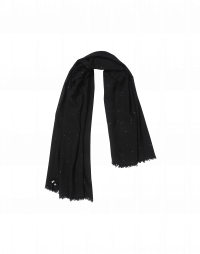 GALAXY: Sequined black scarf