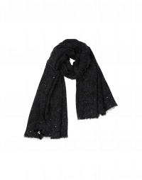 LUCKY: Sequined bouclè scarf