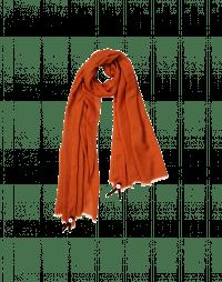 SOLSTICE: Sciarpa in lana color cannella