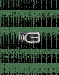STRUP: Navy leather buckle belt