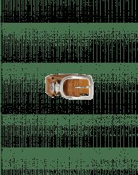 STRUP: Tan leather buckle belt