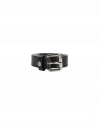 CANTER: Black leather belt
