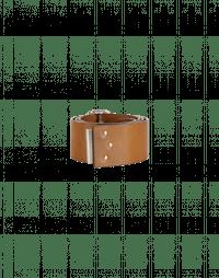 PERTAIN: Cintura alta in pelle con fibbia-clip