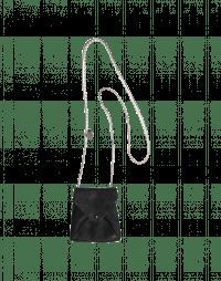 LUCK: Collana-borsetta in pelle nera