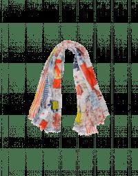 PAGEANT: Sciarpa rettangolare in cotone con pattern multiplo