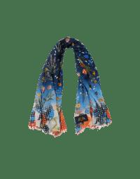 SCATTER: Sciarpa quadrata con pattern floreale e geometrico