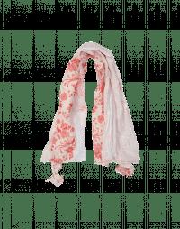 CASCADE: Sciarpa rettangolare bianca e rossa a fantasia multipla