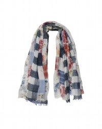 ALFRESCO: Patchwork print cotton scarf