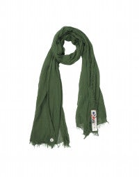 ARNICA: Summer green cotton scarf