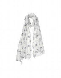 CHALET: Blue Calypso flower voile scarf
