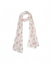 CHALET: Red Calypso flower voile scarf