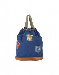 BLEACHER: Cambridge blue emblem patch duffle bag