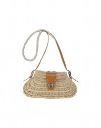 BUSHEL: Wicker box bag