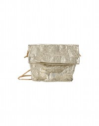 CANNES: Gold leather pouch bag