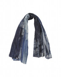ROMANY: Blue archive floral print scarf