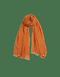 BLIZZARD: Orange wool and silk mix scarf