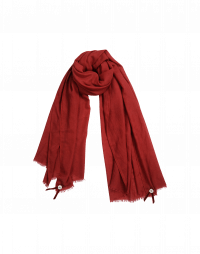 BLIZZARD: Red wool and silk mix scarf