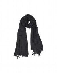 SOLSTICE: Foulard nero misto seta e lana