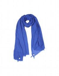 SOLSTICE: Foulard ceruleo misto seta e lana