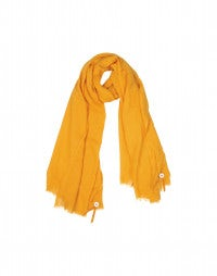SOLSTICE: Orange silk-wool drape scarf