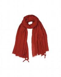 SOLSTICE: Red silk-wool drape scarf