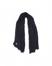 EQUINOX: Navy ultra sized wool blanket scarf
