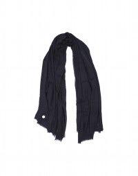 EQUINOX: Sciarpa a scialle in lana blu navy