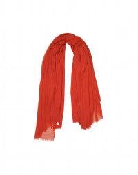 EQUINOX: Sciarpa a scialle in lana rosso aragosta