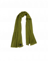 EFFORTLESS: Green cashmere mix scarf
