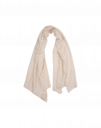 EFFORTLESS: Cream cashmere mix scarf