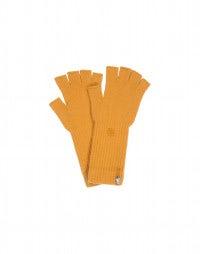 OATH: Guanti senza dita in cashmere senape