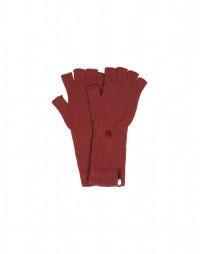 OATH: Guanti senza dita in cashmere rosso