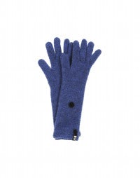 CUSHY: Blue longer length wool mix gloves