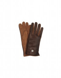FILLY: Brown Pony skin and suede gloves