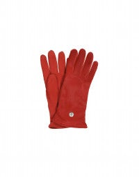 FILLY: Red Pony skin and suede gloves