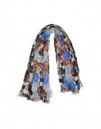 DARWIN: Patchwork print oversized square scarf