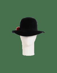 DRIFTER: Wide brimmed hat in soft black felt