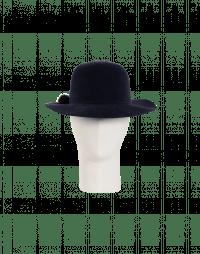 DRIFTER: Wide brimmed hat in soft navy felt