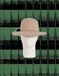 DRIFTER: Wide brimmed hat in soft light beige felt